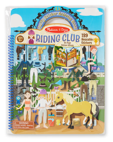 Melissa & Doug puffy sticker activity book- riding club