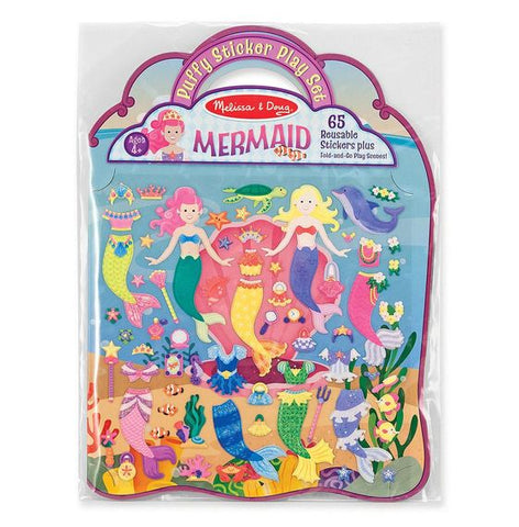 Melissa & Doug puffy sticker playset- mermaid