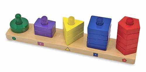 Melissa & Doug stack and sort board