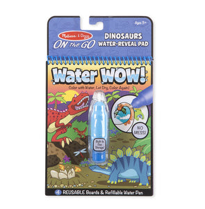 Melissa & Doug water wow on the go book- dinosaurs