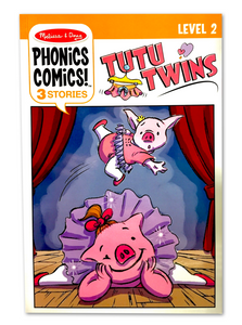 Melissa & Doug phonics comics level 2- tutu twins