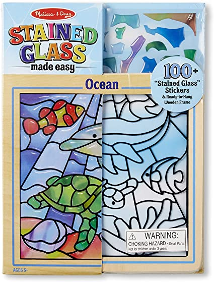 Melissa & Doug stained glass made easy- ocean