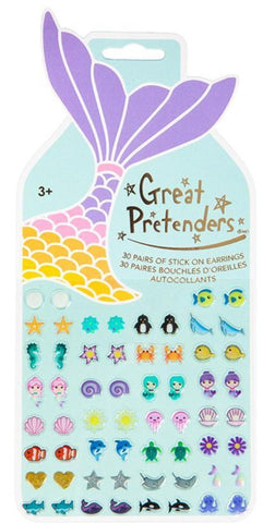 Great Pretenders mermaid sticker earrings