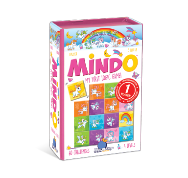 Blue Orange Mindo: Unicorn. Puzzle/Card game. 1 player ages 5 and up.