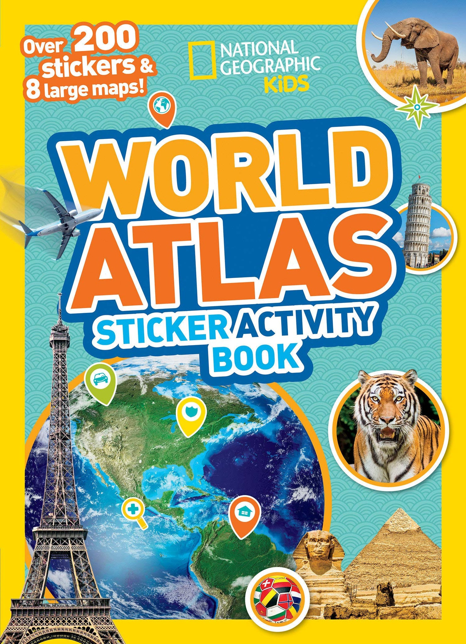 National Geographic World Atlas Sticker Activity Book