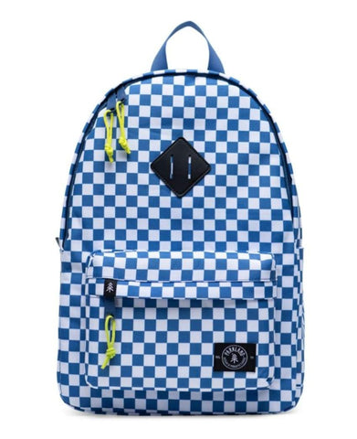 Parkland Bayside backpack- blue & white check