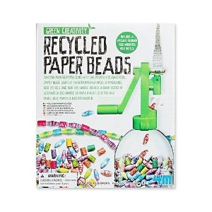 Recycled paper bead kit