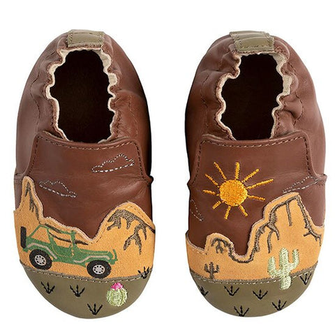 Robeez boys soft sole shoes- Indio Brown
