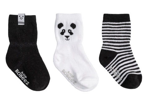 Robeez infant uni 3pk socks- piper panda