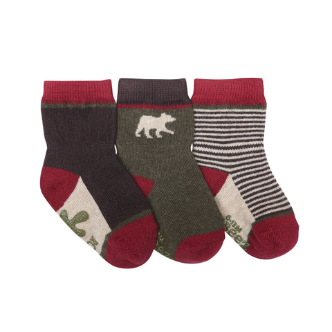 Robeez infant boys 3pk socks- forest dweller
