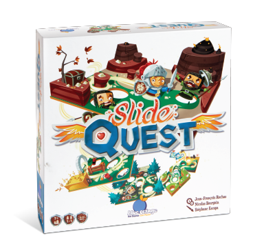 Blue Orange Slide Quest. Board game. 1-4 players ages 4 and up.