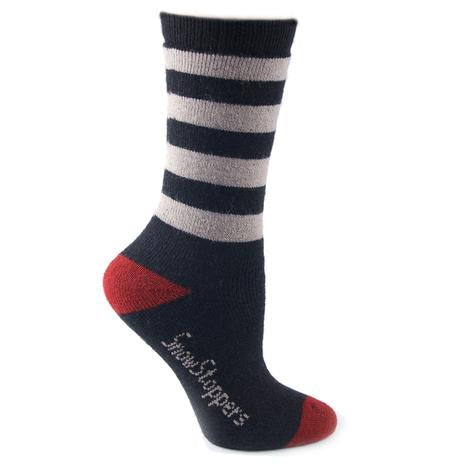 Snowstoppers Alpaca wool socks- black stripe