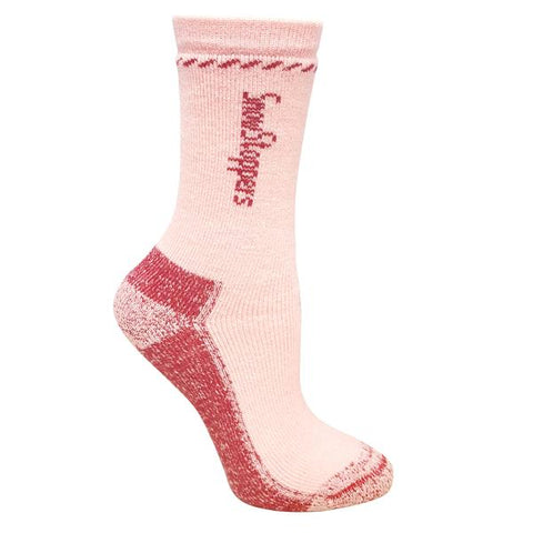 Snowstoppers Alpaca wool socks- pink
