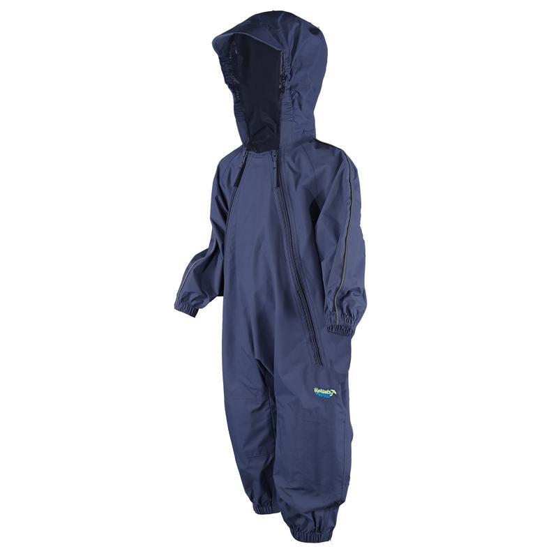 Splashy infant waterproof rainsuit- navy