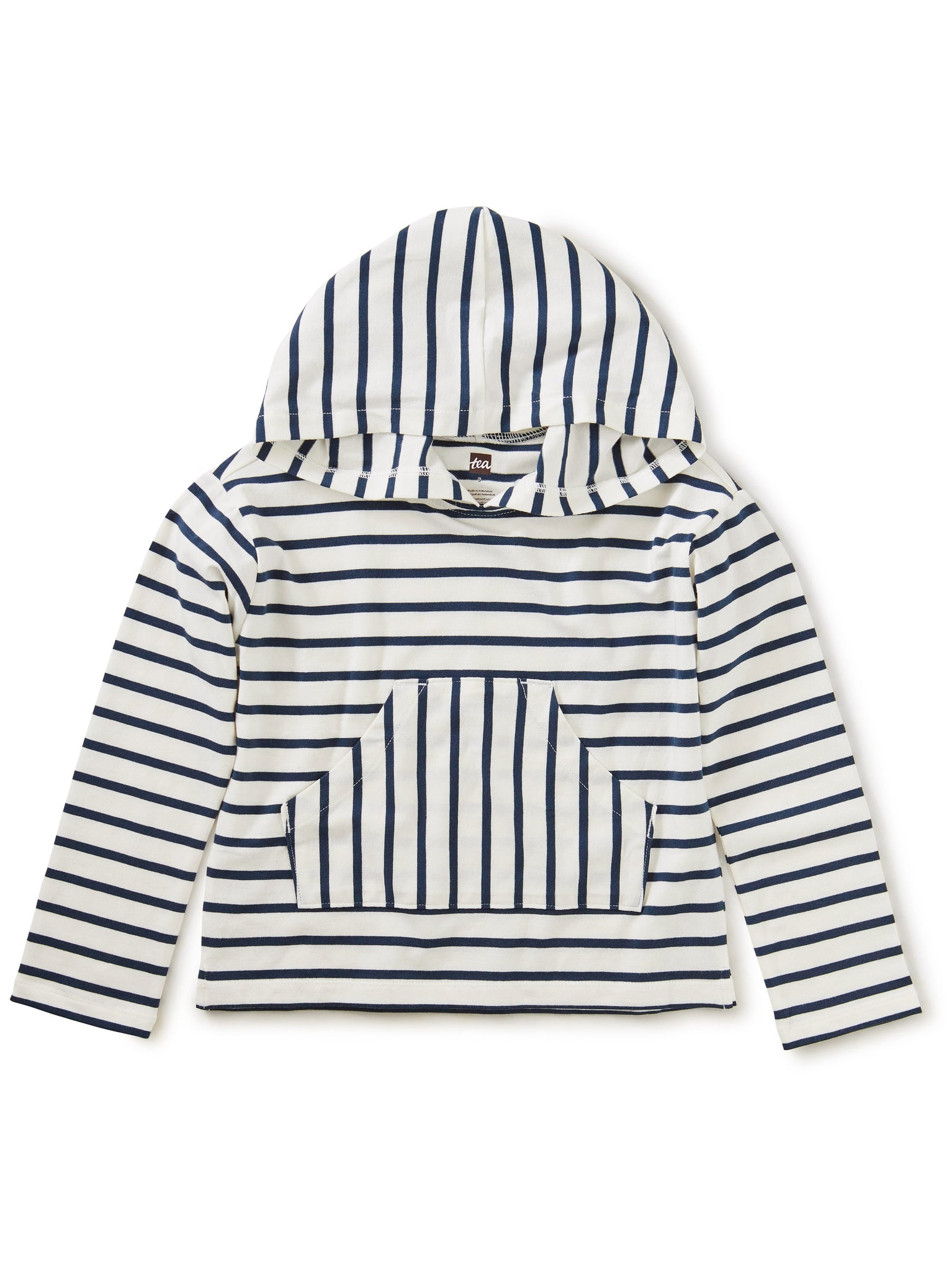 Tea Striped Hooded Top