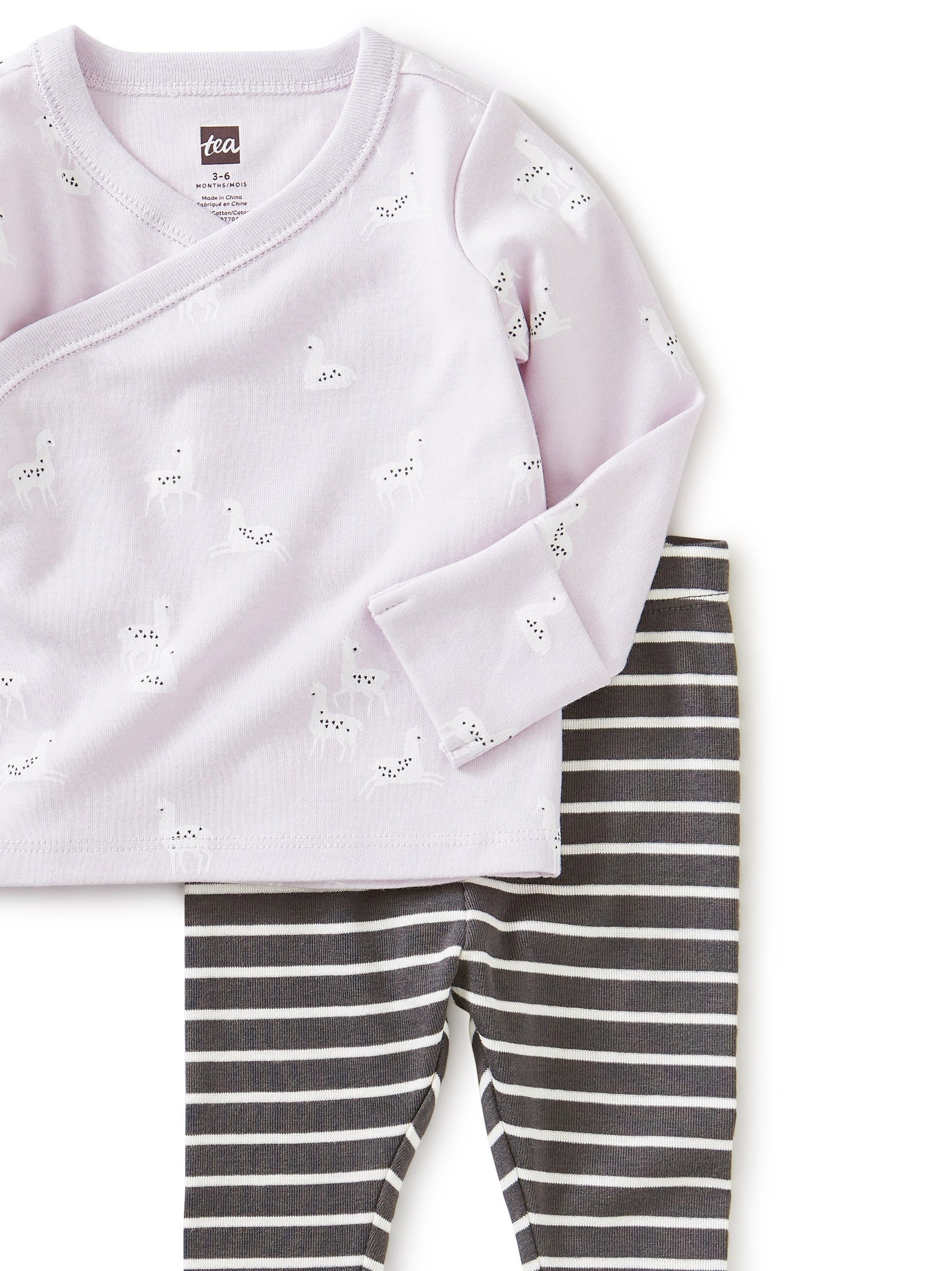 Tea Llama Bliss Wrap Top Baby Outfit