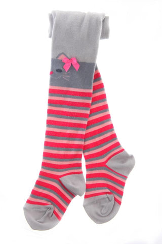 Toes & Bows striped kitty tights