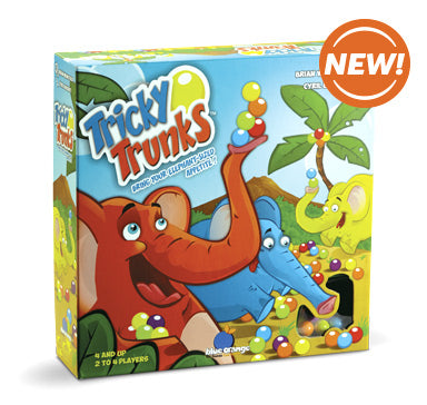 Blue Orange tricky trunks. Card/ Collecting game. 2-4 players for ages 4 and up.