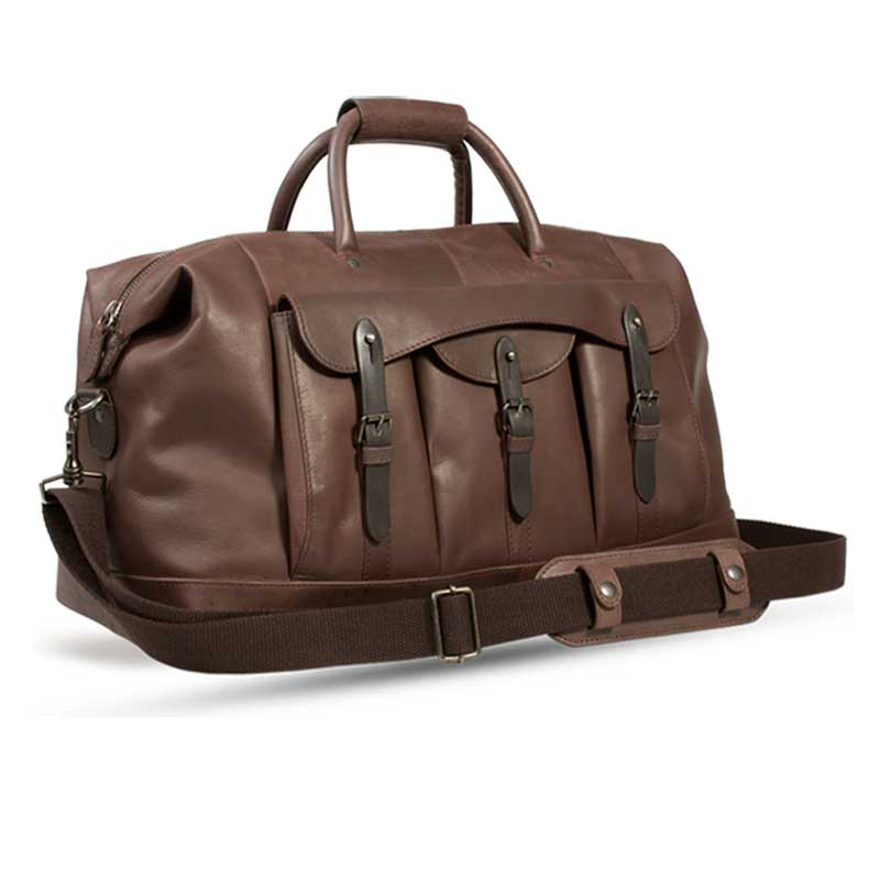 UBERBAG GOBI BROWN LEATHER HOLDALL BAG