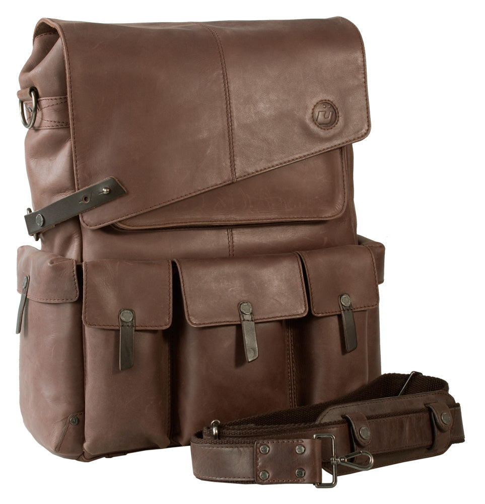 UBERBAG INSIGNIA BROWN LEATHER BACKPACK