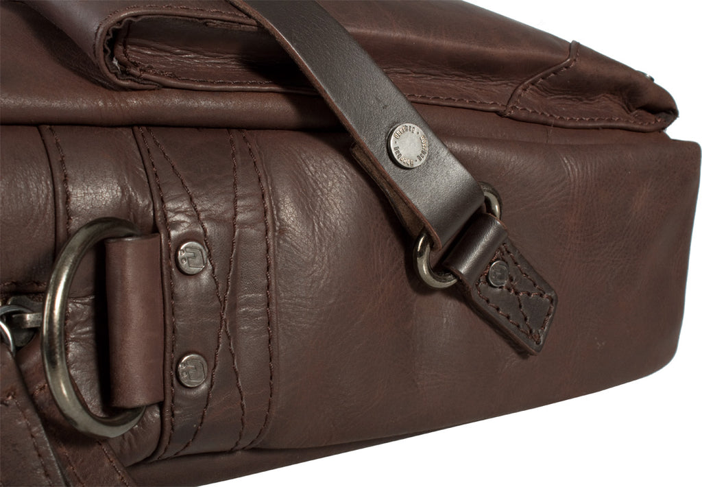 UBERBAG INSIGNIA BROWN LEATHER PORTFOLIO / MESSENGER BAG