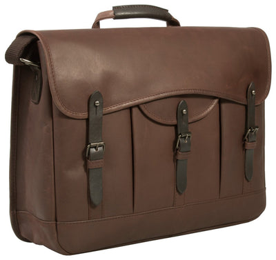 UBERBAG GOBI BROWN LEATHER MESSENGER BAG