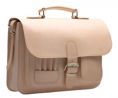 MAYFAIR VEGETABLE TANNED NATURAL LEATHER SMALL SATCHEL / BACKPACK