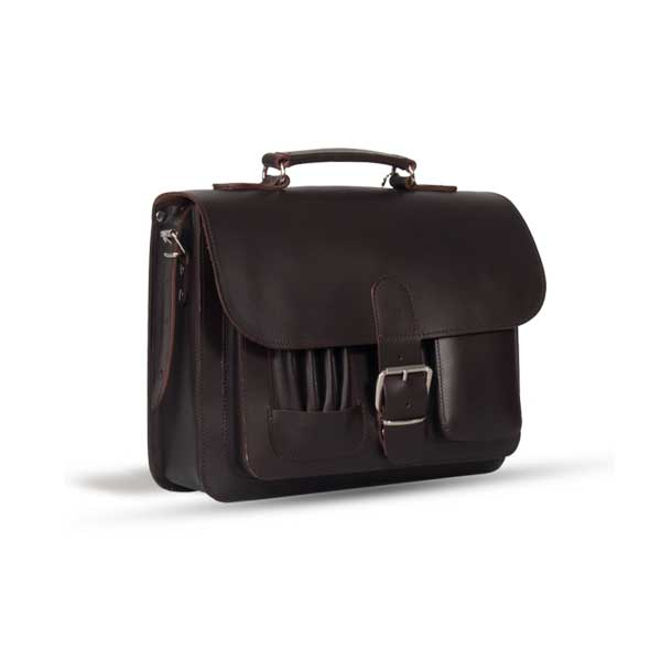 MAYFAIR VEGETABLE TANNED BROWN LEATHER SMALL SATCHEL / BACKPACK