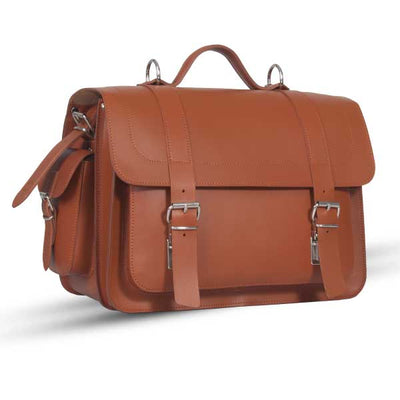 PIMLICO NATURAL VEGETABLE TANNED TAN LEATHER SATCHEL / BACKPACK