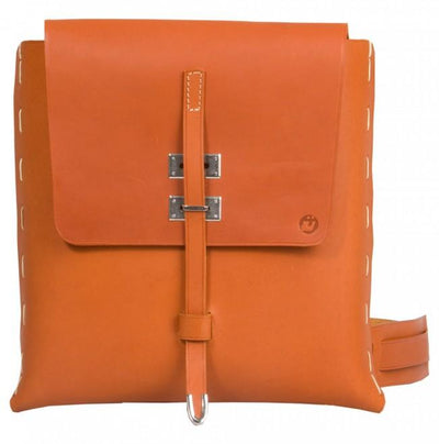 UBERBAG TRIBE TAN VEGETABLE TANNED LEATHER MESSENGER BAG