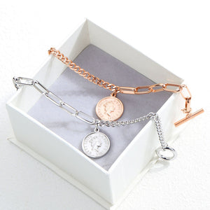 Retro Avatar Round Charm Bracelets - Zana Collection