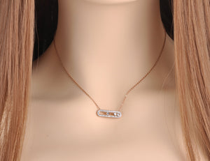 Trendy White Clay CZ Crystal Necklace - Zana Collection