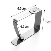 Load image into Gallery viewer, 6PCS Stainless Steel Table cloth Clip  Wedding