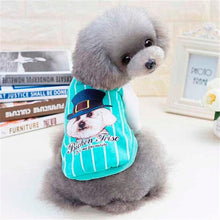 Load image into Gallery viewer, Blue Puppy with Hat pet dog Jacket coat clothes