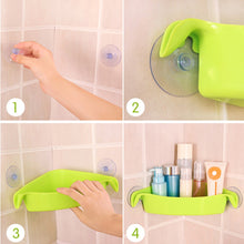 Load image into Gallery viewer, High Quality Plastic Corner Shelf Suction Rack Organizer Cup Storage