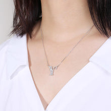 Load image into Gallery viewer, Sterling Silver Letter Pendant Necklace