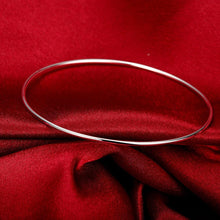 Load image into Gallery viewer, Thin Bangle in 18K White Gold Plated