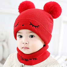 Load image into Gallery viewer, Newborn Kids Hats Baby Boys Girls Pom Hat 3D Ear