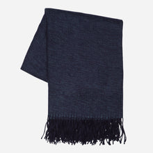 Load image into Gallery viewer, Solid Woven Throw, Dark Blue