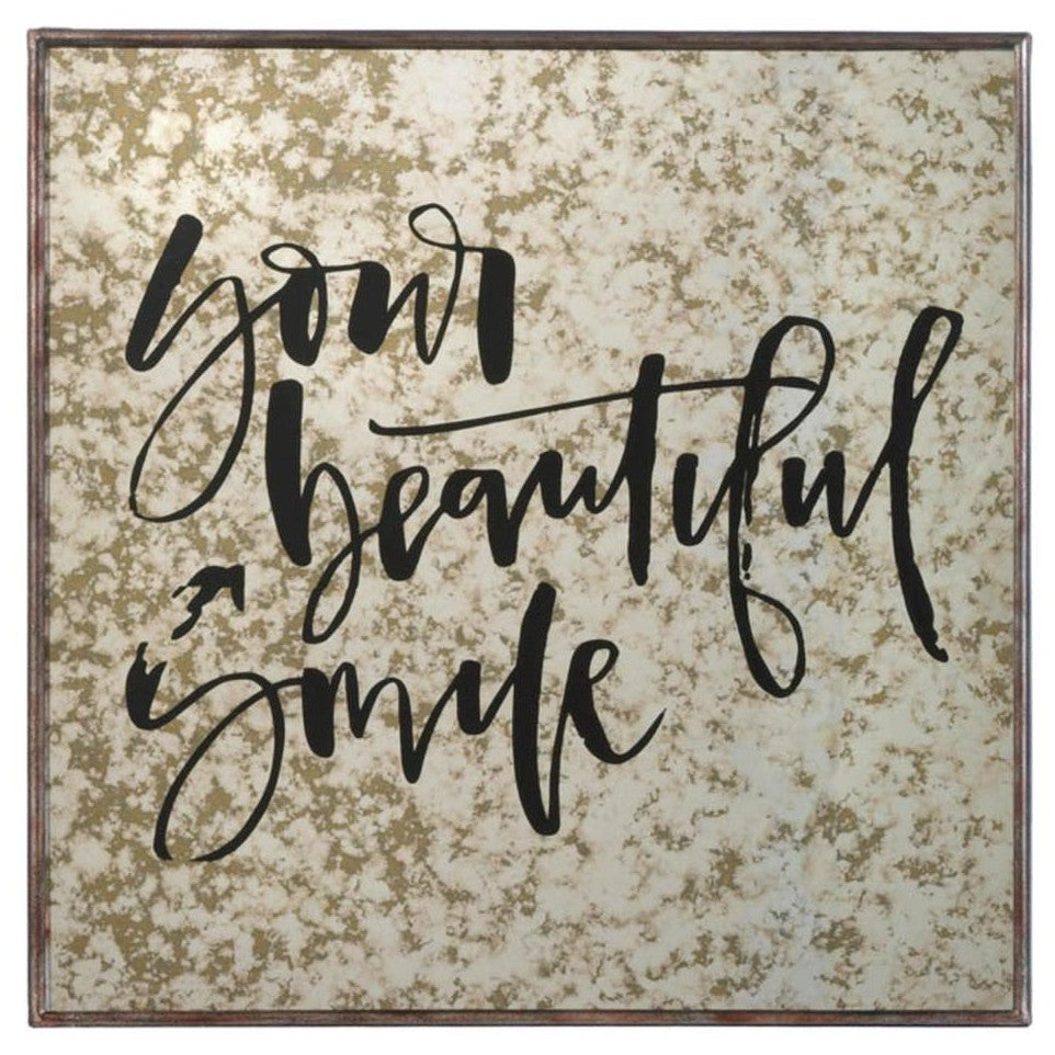 Your Beautiful Smile Decorative Mirror