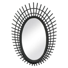 Load image into Gallery viewer, Riki Black Bamboo Mirror - 24 inches