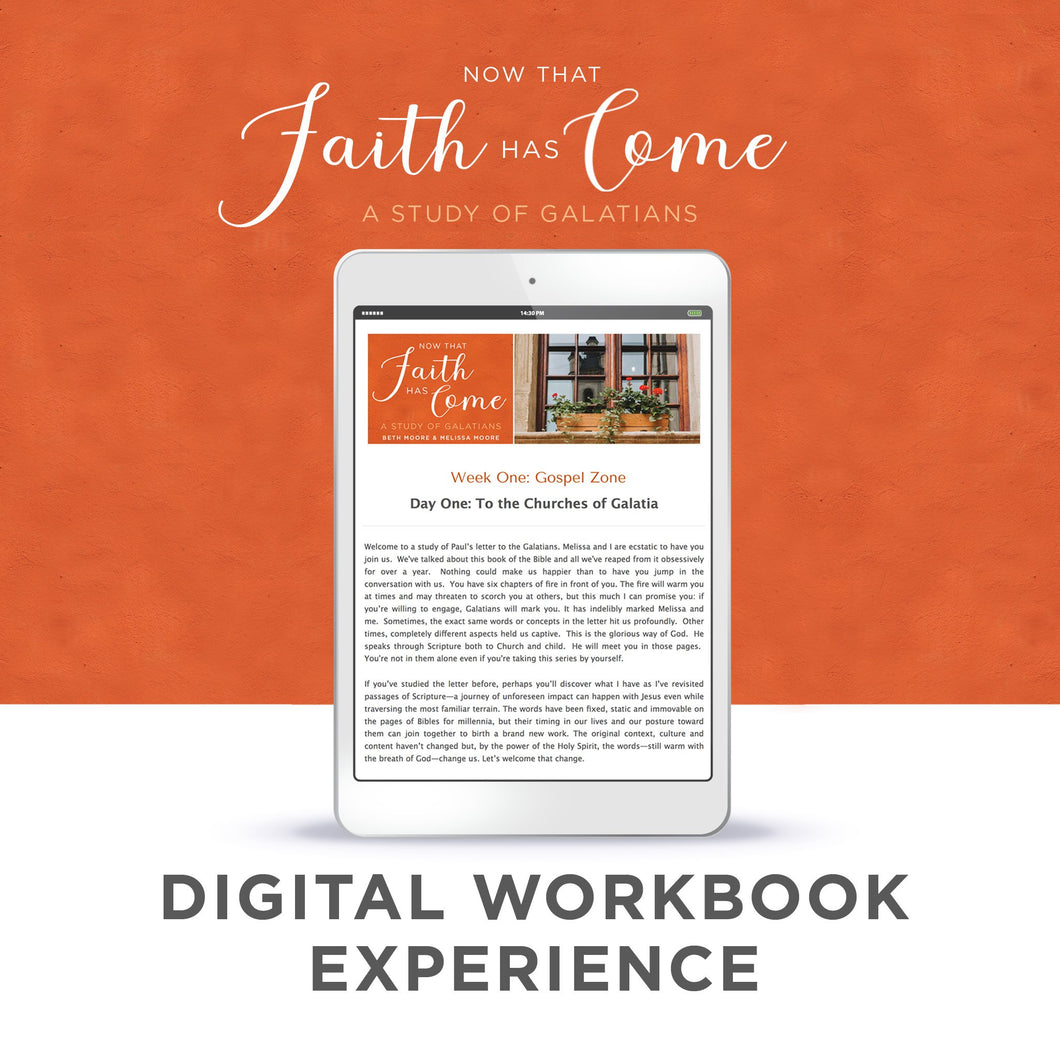 NEW UPDATED VERSION! Digital Workbook - Now That Faith Has Come: A Study of Galatians