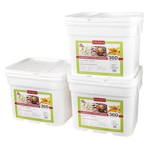 3 Month Food Storage for 1 Person (1,080 Servings)
