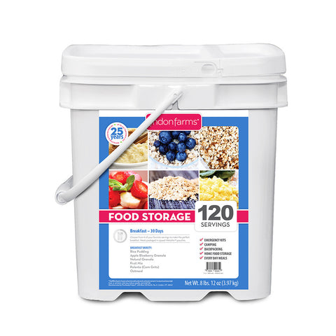 Breakfast Food Storage Bucket (120 Servings)