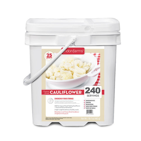 Freeze Dried Cauliflower Food Storage (240 Servings)