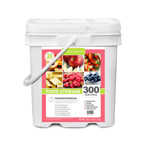 Freeze Dried Fruit Mix Food Storage (300 Servings)