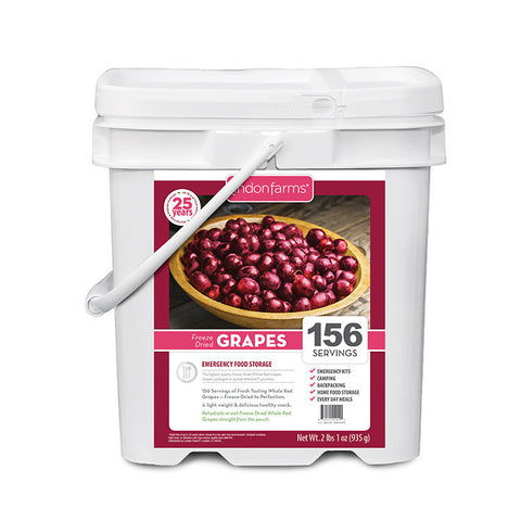 Freeze Dried Grapes Food Storage (156 Servings)