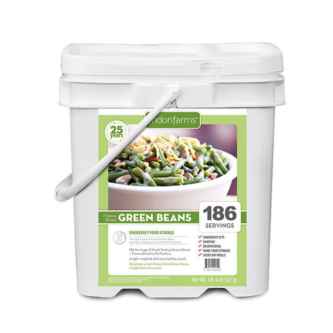 Freeze Dried Green Beans Food Storage (186 Servings)
