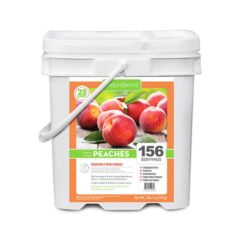 Freeze Dried Peaches Food Storage (156 Servings)