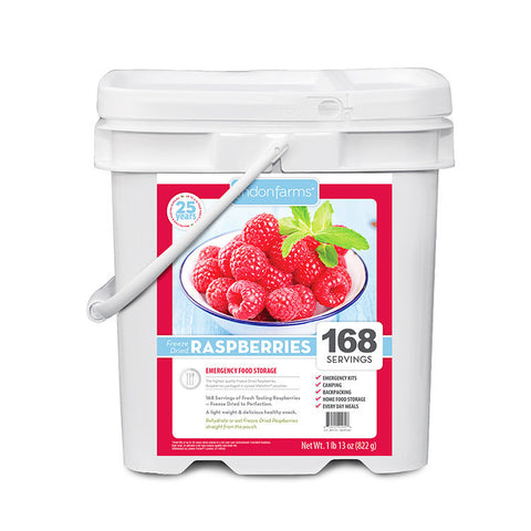 Freeze Dried Raspberries Food Storage (168 Servings)